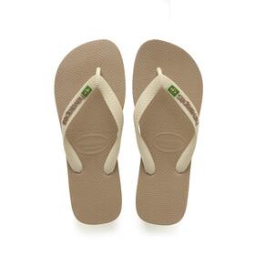 havaianas Brasil Logo Sandały beżowy